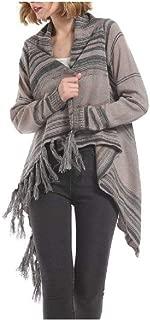 Howely Womens Cardigan Fringe Outwear/Overcoat Knit Premium Cardigan