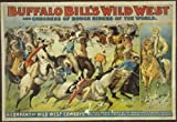 Hotsuff Buffalo Bill's Wild West Poster Print Rough Riders Circus Show Vintage 12'x18'
