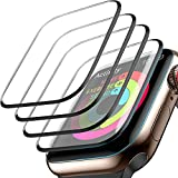 [4 Pack] Screen Protector for Apple Watch 40mm Series 6/SE/5/4 3D Full Coverage Waterproof Anti-Scratch Bubble-Free HD Clear Screen Film for Apple Watch 40mm