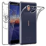 ebestStar - kompatibel mit Nokia 3.1 Hülle Nokia 3.1 2018 Handyhülle [Ultra Dünn], Durchsichtige Klar Flex Silikon Schutzhülle, Transparent +Panzerglas Schutzfolie [Nokia 3.1:146.25x68.65x8.7mm 5.2