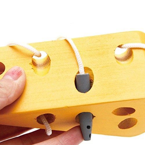 TOOGOO Holz Bildung Baby Kindergarten Mausefaden Kaese Spielzeug Frueherziehung Bildung Spielzeug Montessori Lehrmittel Math Spielzeug