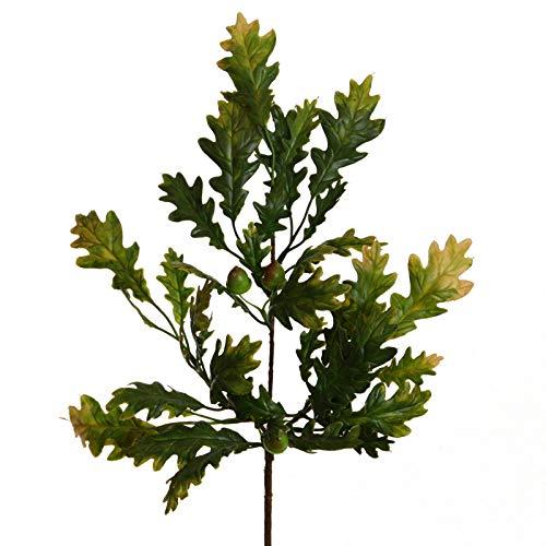 Floratexx Künstlicher EICHENZWEIG ca 42 cm. Eichenlaub, Eicheln, Eiche grün-braun. 10342 07