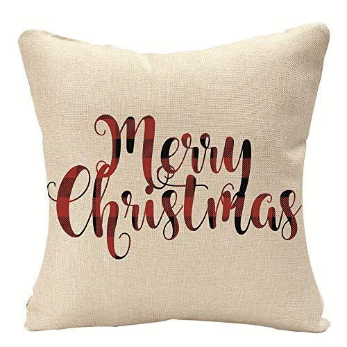 'N/A' 16x16 Inches Xmas Pillow Cover Throw Pillow Case Christmas Decor Cushion Cover Home Gift Linen Pillow Cases