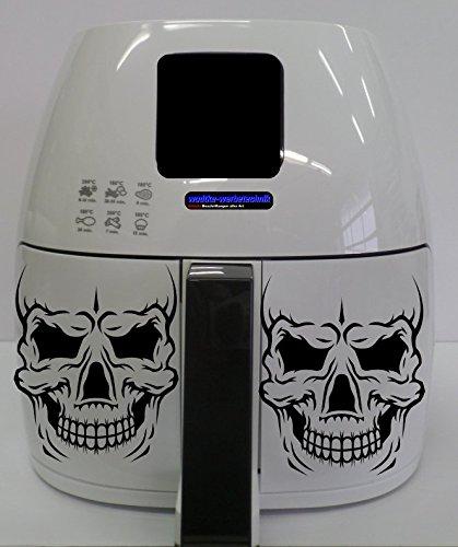 Stickers geschikt voor Philips Airfryer XL doodskop zwart