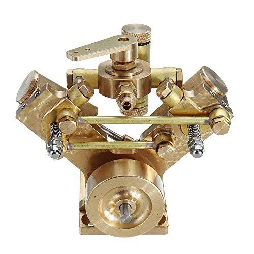 Asffdhley Stirlingmotor Micro-Skala M2B Zweizylinder Schiffsdampfmaschine Modell Stirling-Motor-Sammlung Geschenk Physik-Experimentierspielzeug (Color : Gold, Size : One Size)