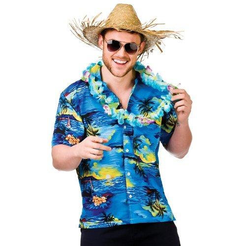 Camisa de playa hawaiana para hombre con estampado de flores y palmeras