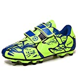 WEJIESS Boys Girls Turf Cleats Soccer Kids Cleats Soccer Football Shoes Athletics Training Shoes Outdoor Sports Sneakers Competition Shoes (Toddler/Little Kid/Big Kid) 28-38