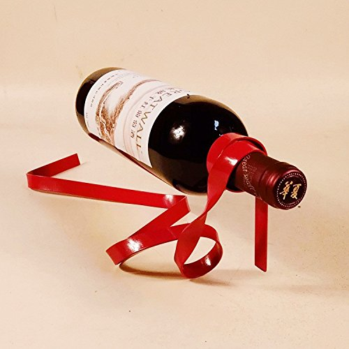 Ribbon Floating Wine Glass Holder Rack