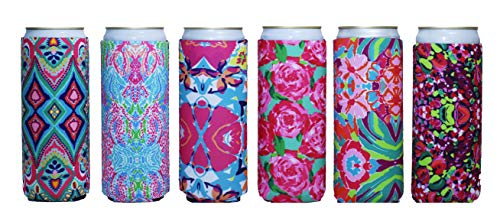 Baxendale Tall Can Coozie for Slim Can and Tall Beer Cans - Set of 6 12oz Skinny Coozie Insulated Cooler Sleeves to Keep Drinks Cold - Compatible with Truly, Michelob Ultra, Seltzers, Redbull and More