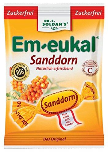Em-eukal Bonbons Sanddorn zuckerfrei, 75 g