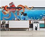 Fotomurales Decorativos Pared Vinilos Decorativos Papel Fotografico 3D Pared De Fondo Estéreo 3D De Pulpo De Acuario Papel Pintado Cuadros Habitacion Bebe Posters Mural Pared