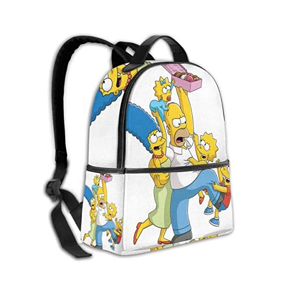 51d8WaUA HL. SS600  - Anime Cartoon Simpsons - Mochila para Estudiantes, Unisex, diseño de Dibujos Animados, 14,5 x 30,5 x 12,7 cm