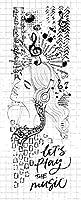 女の子の透明なクリアシリコンスタンプ/DIYスクラップブッキング/フォトアルバム用シール装飾的なクリアスタンプシートB0690