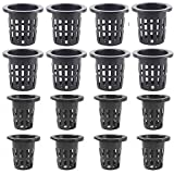 Lot de 40 pots de filet de jardin, en plastique hydroponique, filet fendu, filet de...