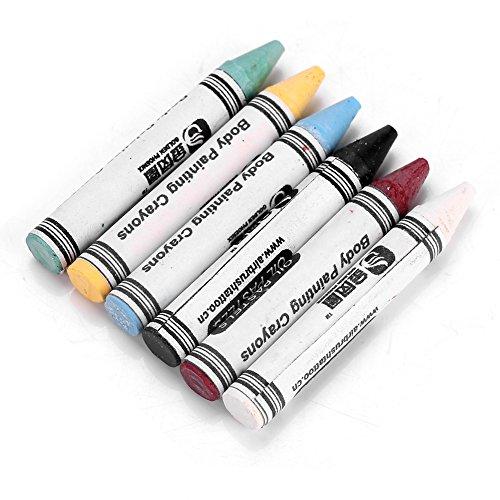 6 colores neón pintura corporal crayones pigmento, pintura