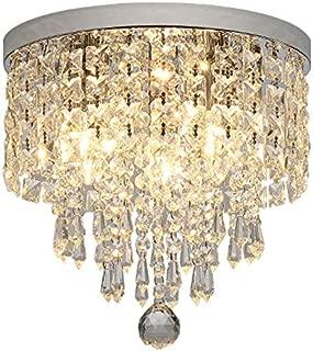 Hsyile KU300142 Modern Chandelier Crystal Ball Fixture Pendant Ceiling Lamp H9.84