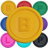 SCHWABMARKEN 100 Gettoni Fiches Chips B, P o L in 14 Colori a Un Prezzo VANTAGGIOSO, Colore Giallo B