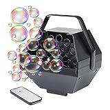 LHTE Telecomando Piccolo Bubble Machine, Bubble Machine Professionale, per Bambini da Sposa Giocattolo Multifunzione Ruota Singola Fase Hanging Mini Machine Bubble