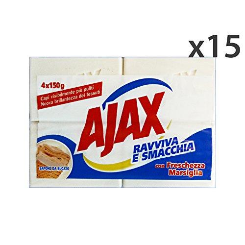 Set 15 Ajax zeep wasmiddel marseille * 4 stuks 600 gr. Reinigingsmiddel huis