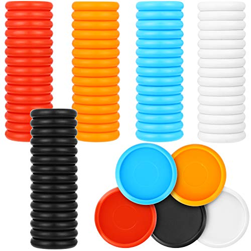 100 Pieces Plastic Expander Discs Discbound Expansion Discs 5 Color Binding Discs for Discbound Notebooks Add Extra Pages, Notes and Artwork