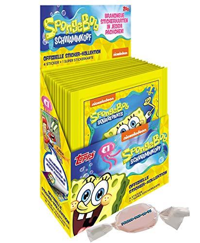 DE Topps Spongebob Sticker 2020 Sie erhalten - ( 30 Tüten) im Display zusätzlich 1 x Sticker-und-co Bonbon