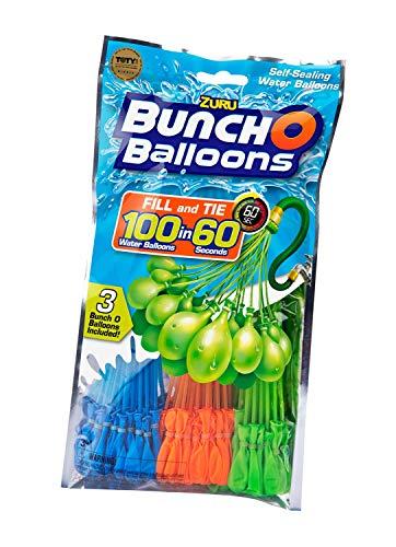 Zuru 1213 - Bunch o Balloons, 100 Wasserbomben in 60 Sekunden, selbst verschließend ohne Knoten, 6 Bündel mit je 35 Wasserbomben (210 Wasserbomben)