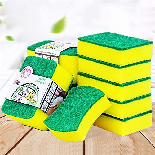 Durable Sponge Cloth, Heavy Duty Scrub Sponge, Pack of 8, Size 10x8x3 cm