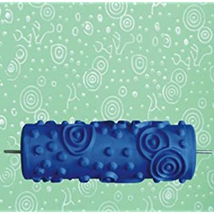 15cm DIY Ripple and Dot Pattern Paint Roller for Wall Decoration 020Y:Amedama