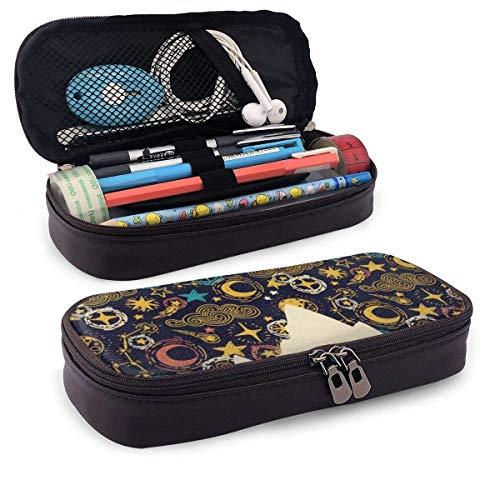 Federmappe,Make-Up-Tasche,Pvc Pencil Case,Mäppchen,Storage Bag,Atmen Sie Einfach Pu Leder Pencil Pen Bag Pouch Etui Halter