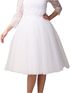 Women Tea Length 5-Layered Tulle A-line Tutu Party Prom Skirt