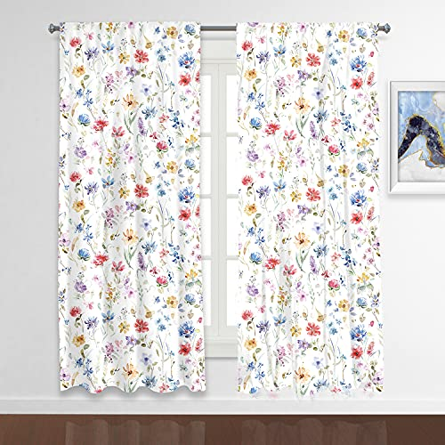 RosieLily Floral Curtains 84 Inch Length Boho Curtains Floral Curtains for Bedroom Flower Curtains Colorful Curtains for Living Room Print Curtains Paisely Curtains Vintage Curtains Set of 2 Panels