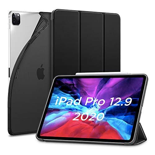 """ESR Hülle kompatibel mit iPad Pro 12.9"""" 2020, Rebo& Slim Smart Hülle mit Auto Schlaf-/Wachfunktion [Ansichts-/Tippstandmodus] [Flexible TPU Rückseite mit gummierter Vorderseite] - Schwarz"""