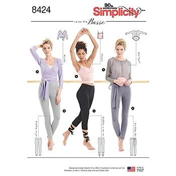Simplicity US8424A Women s Leggings Wrap Tank Pullover Top Sewing Patterns Sizes XXS-XXL