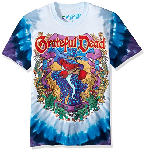 Liquid Blue Men's Plus Size Grateful Dead-Terrapin Moon T-Shirt, Tie Dye, Small