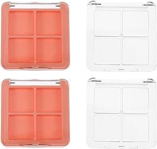 Beaupretty Lege oogschaduw dozen 4 rasters oogschaduw paletten cosmetica make-up poeder monster container 4 stuks