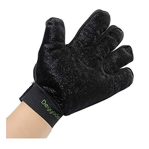 FANGCHENG Gloves Pet cepillo de tela nuevo gato perro melena cinco dedos guantes leather gloves (Color : Blue, Size : 24 * 17 * 2CM)