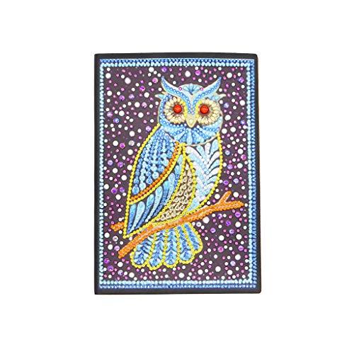 SHOTAY Creativo DIY Diamante Pintura en Forma Especial Cuaderno Diario Libro A5 Bordado Punto de Cruz artesanía Regalo Bj016#