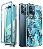 i-Blason Funda 6.1 inch iPhone 12 /iPhone 12 Pro [Cosmo] 360 Carcasa con Protector de Pantalla Integrado Case Protector Compatible con iPhone 2020 6.1 inch - Azul