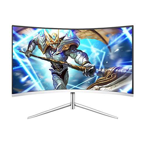 DYYAN 32 Inch 2K Full HD (2560x 1440) Monitor, 1700R, VA, 8ms, Ultrathin Bezel,DP, HDMI, VGA, 300cd/m2,White