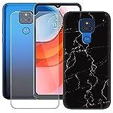 szjckj Coque pour Motorola Moto G Play + HD Protecteur écran, Anti-Chute Verre Tempered Glass Film...