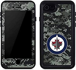 Skinit Waterproof Phone Case Compatible with iPhone SE - Officially Licensed NHL Winnipeg Jets Camo Design