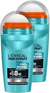 L'Oréal Men Expert Cool Power Déodorant Bille Homme Pack of 2