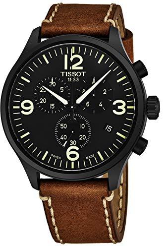 Tissot Chrono XL Armbanduhr Leder braun