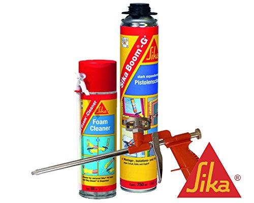 Sika Boom G+ Montageschaum 750ml Kombi-Set 1x Boom G+ inkl. Reiniger + Compact-Schaumpistole