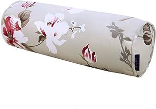 45 * 15 cm, Almohada Redonda Almohada sofá de Madera Maciza cojín de los niños, jardín Planta patrón de Flores reposabrazos