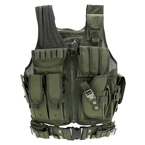 Docooler Militärische Taktik-Weste für Jagd Camping Wandern Kriegsspiel, grün