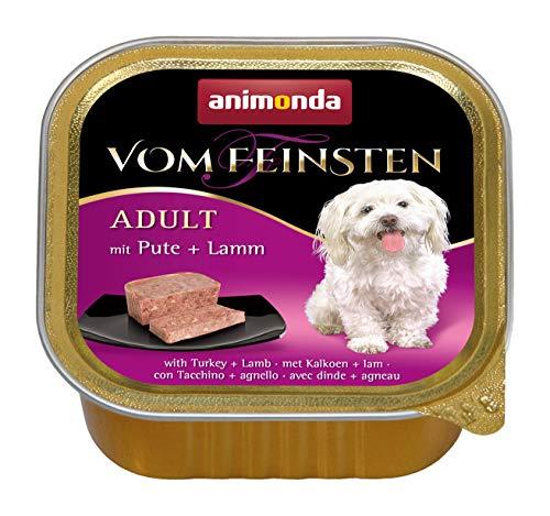 Nourriture pour chien Vom Feinsten Adult d'animonda, nourriture humide pour chien adulte, avec dinde + agneau, 22 x 150 g