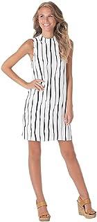 358fb31fe24 Mud Pie Jade Poly Crepe Sleeveless Shift Dress In Painterly Black Stripe  Womens Apparel