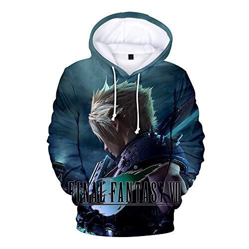 Final Fantasy Sweatshirts Loose Muscle Gym Premium Pullover mit Rundhalsausschnitt Langarm-Trainingsoberteil for Herren Final Fantasy Mäntel (Color : A07, Size : XL)