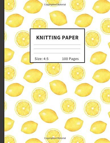 Knitting Paper: Graph (4:5 ratio) Notebook & Journal For Patterns : Lemon Pattern